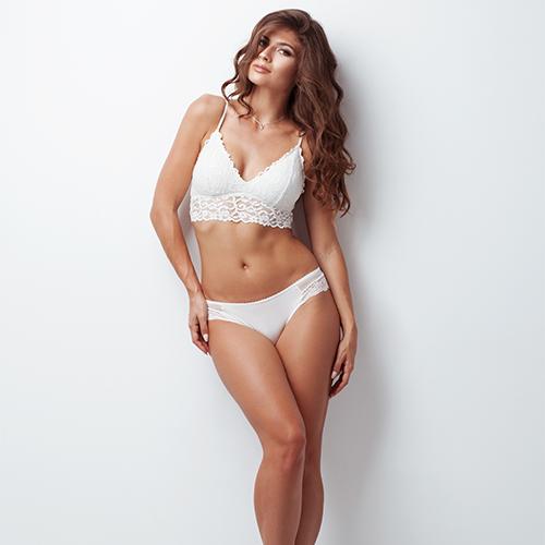 stock photo: woman in undergarments