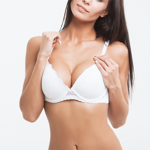 stock photo: woman in white bra