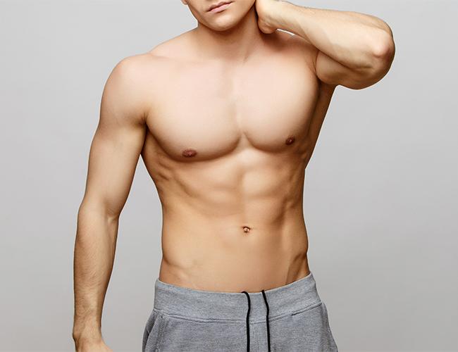 stock photo: man with shorts and no shirt